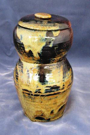 Waterfall Brown Cover Jar